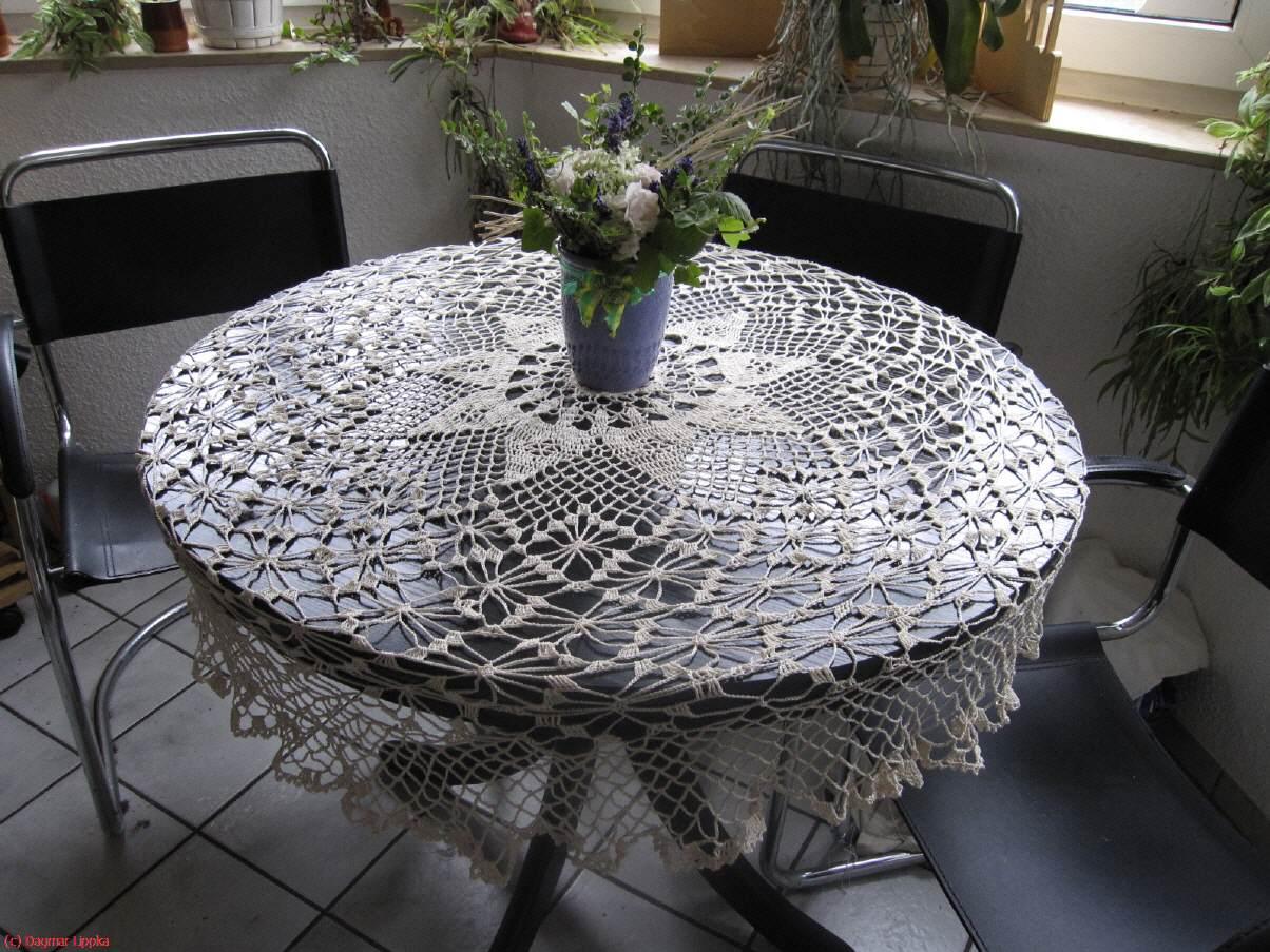 Runde Tischdecke Häkeln Muster Runde Große Deckchen Häkeln